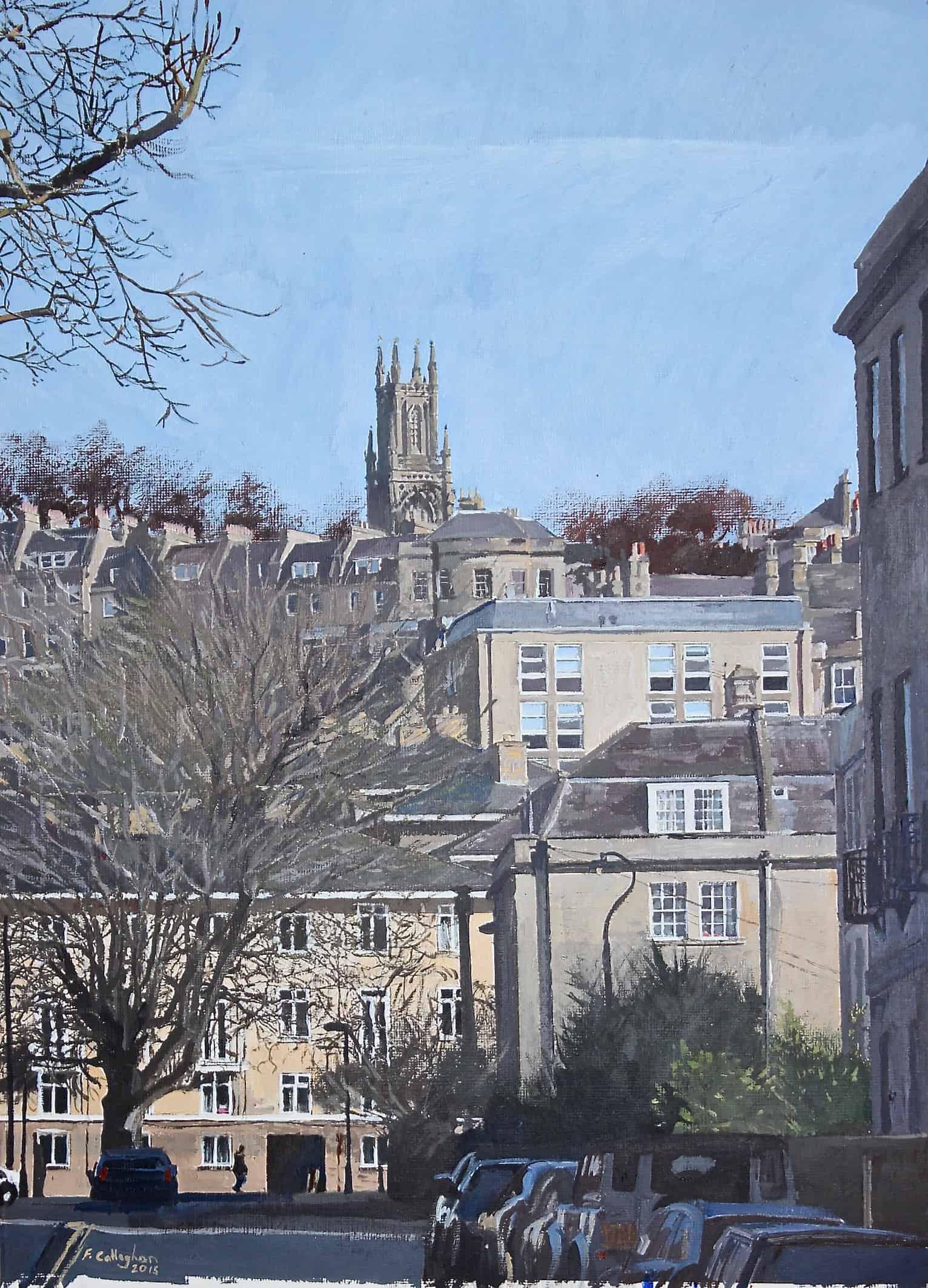 Bath Street Scene Painting