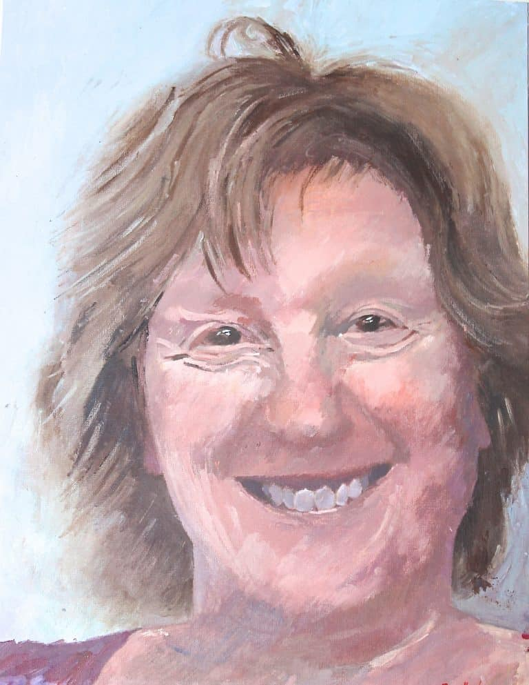Christine - female portrait in acrylic