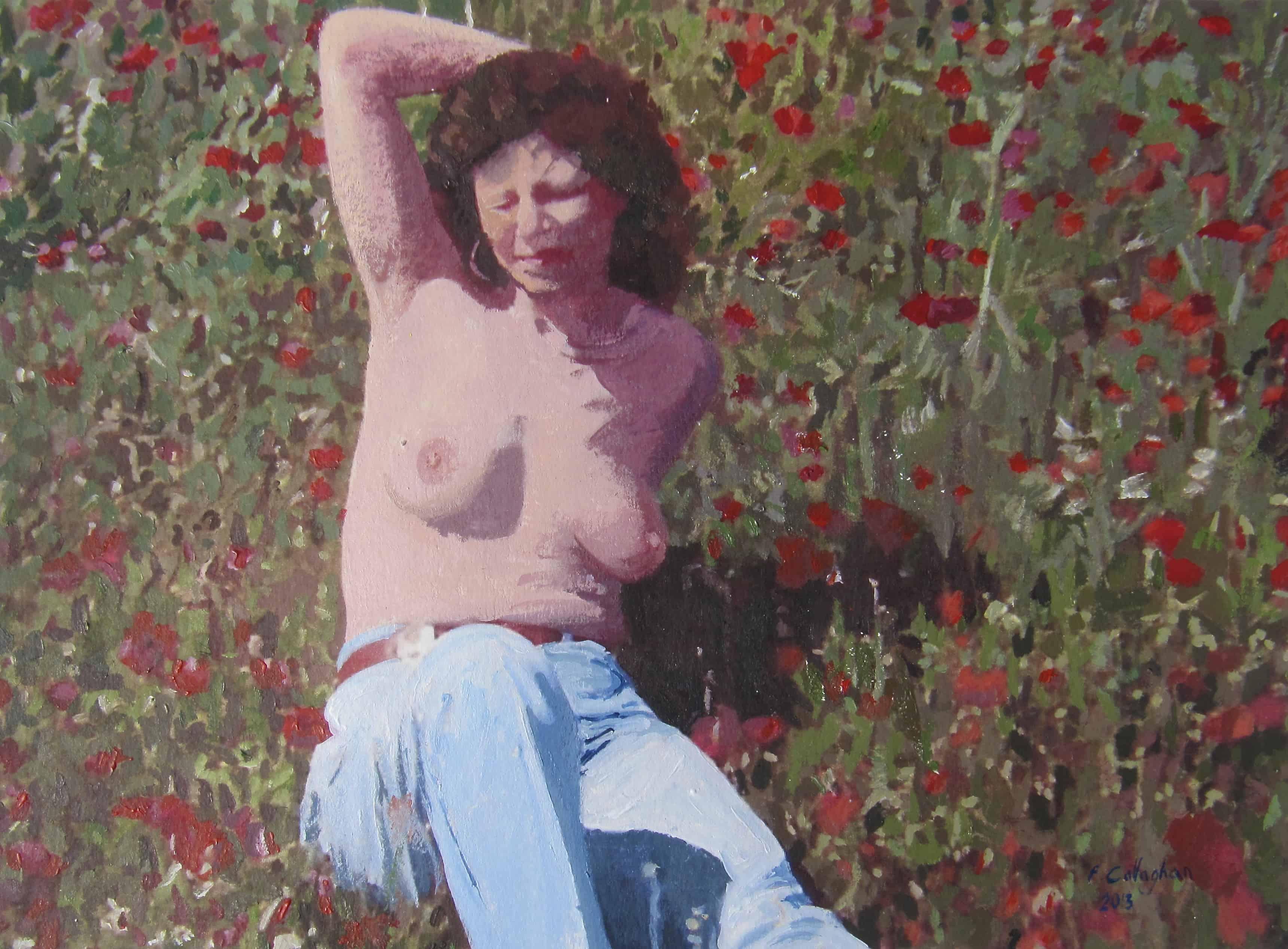 Elaine Pearson in Poppy Field