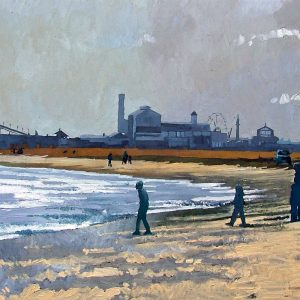 Great Yarmouth Beach Painted by Frank Callaghan
