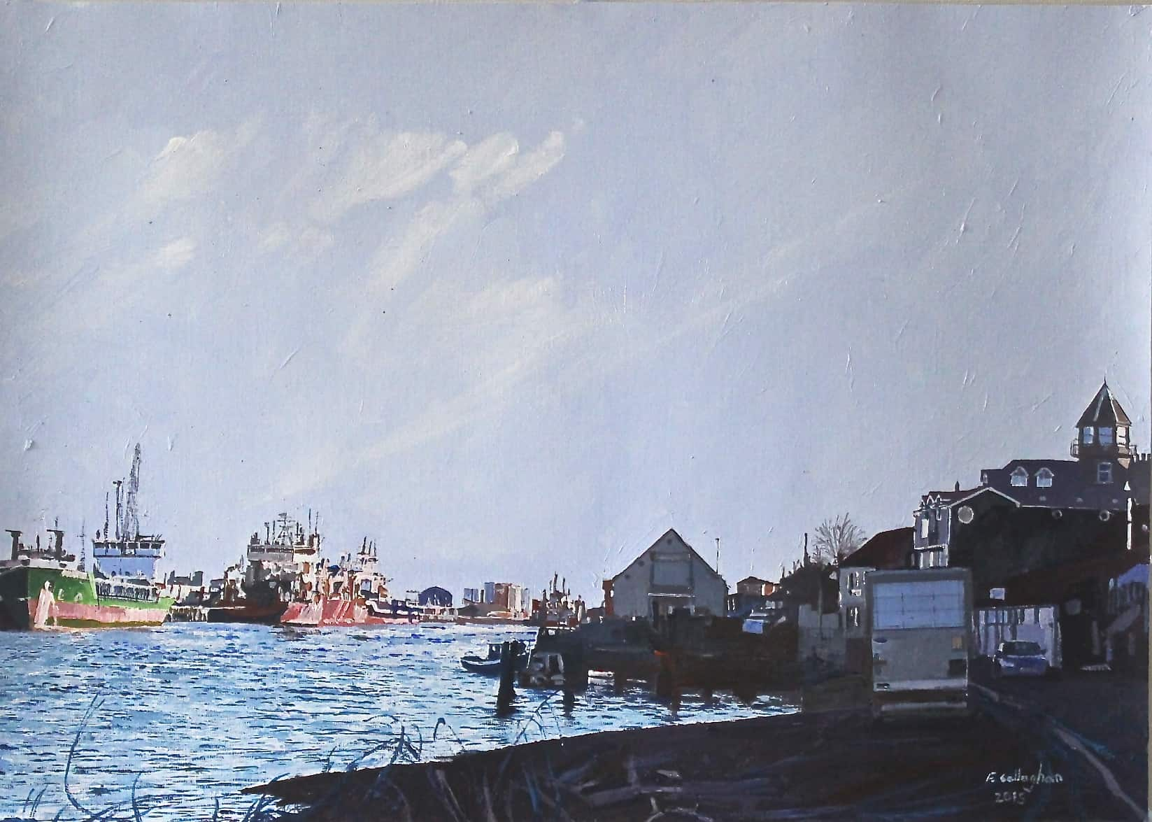 Great Yarmouth from Gorleston Painted by Frank Callaghan