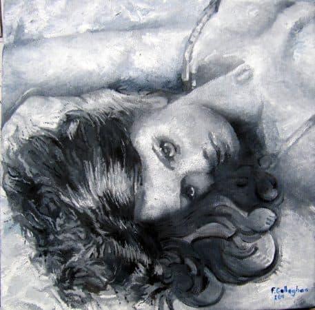 Hazel portrait female in oil