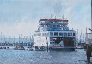 Isle of Wight Ferry Lymington Painted by Frank Callaghan