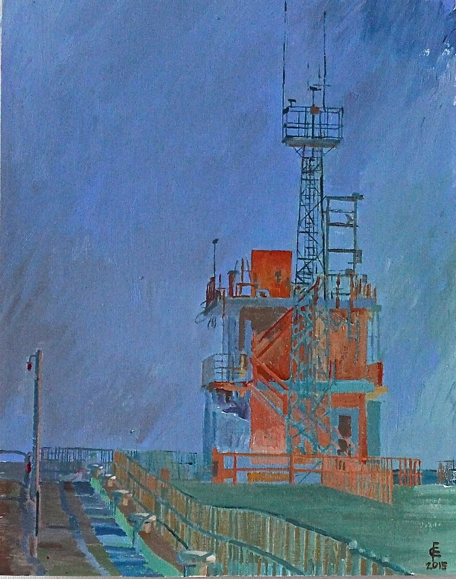 Look-out. Gorleston Harbour Entrance Painted by Frank Callaghan