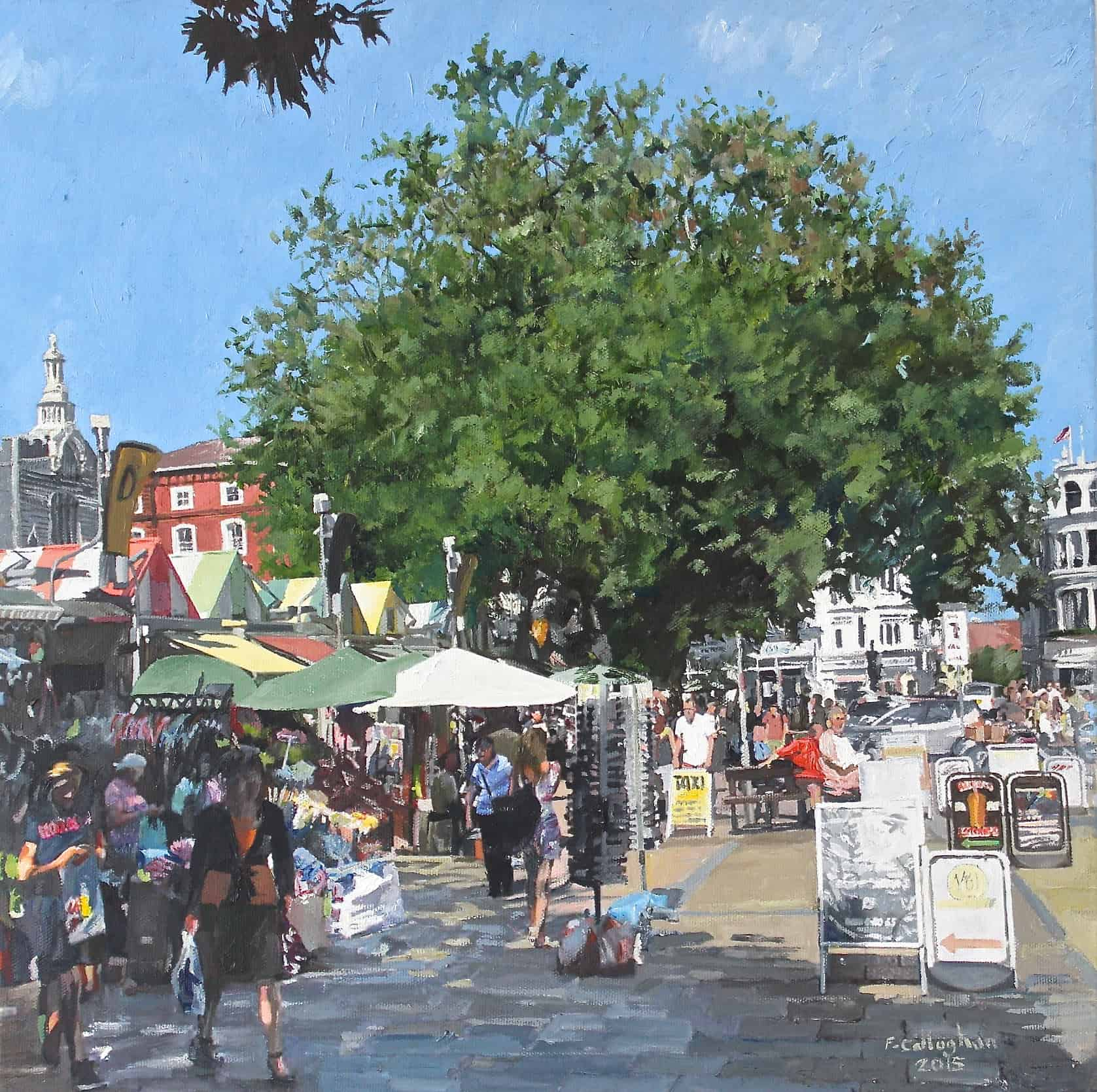 Norwich Market Place Painted by Frank Callaghan