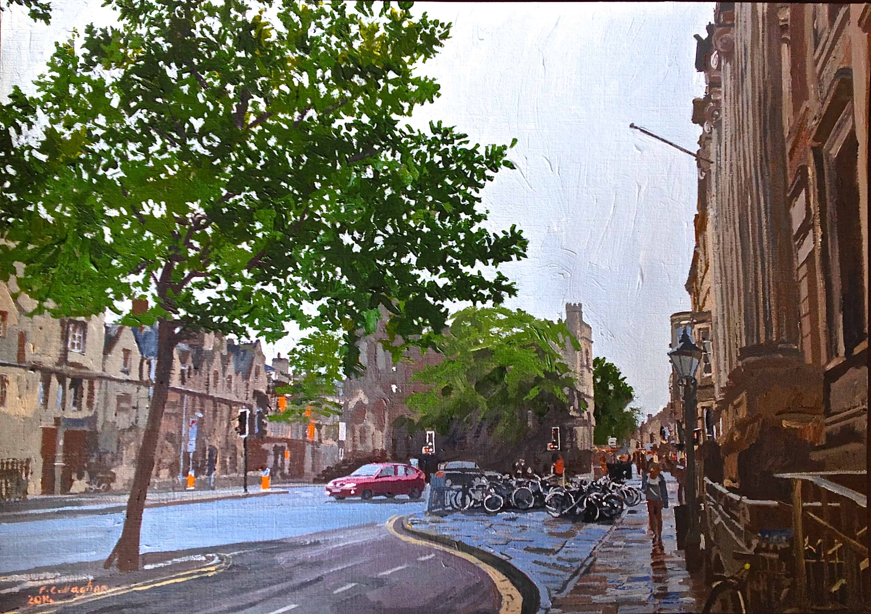 Oxford in the rain an Acrylic Painting by Frank Callaghan