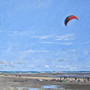 Sand Yachting at Dungeness Painted by Frank Callaghan