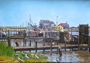 Southwold Harbour Suffolk Painted by Frank Callaghan