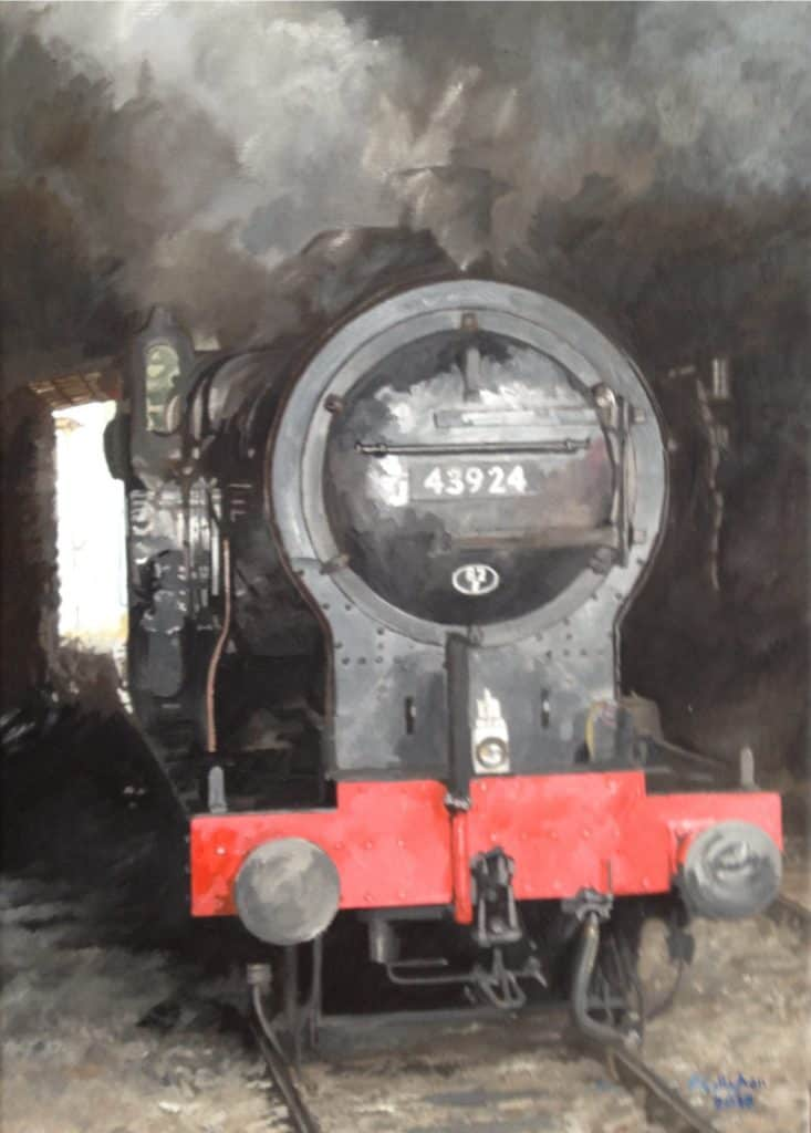 Steam emerging from tunnel