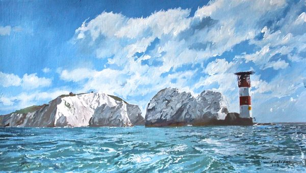 The Needles from The Solent Painted by Frank Callaghan