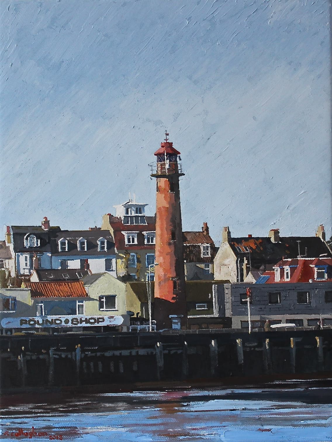 The Old Lighthouse Gorleston Painted by Frank Callaghan