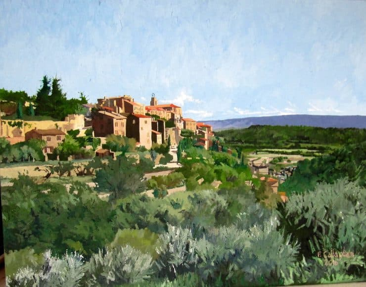 The Village of Gordes Provence Painted by Frank Callaghan