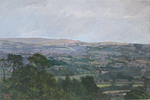 Towards Lyme Regis Painted by Frank Callaghan in Oil