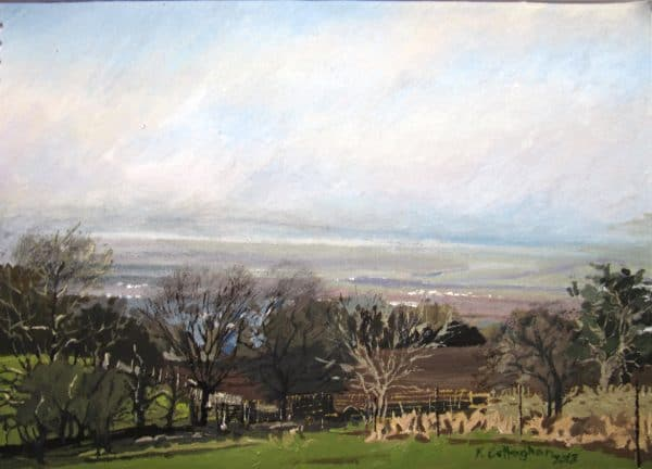 View over Chipping Campden Painted by Frank Callaghan