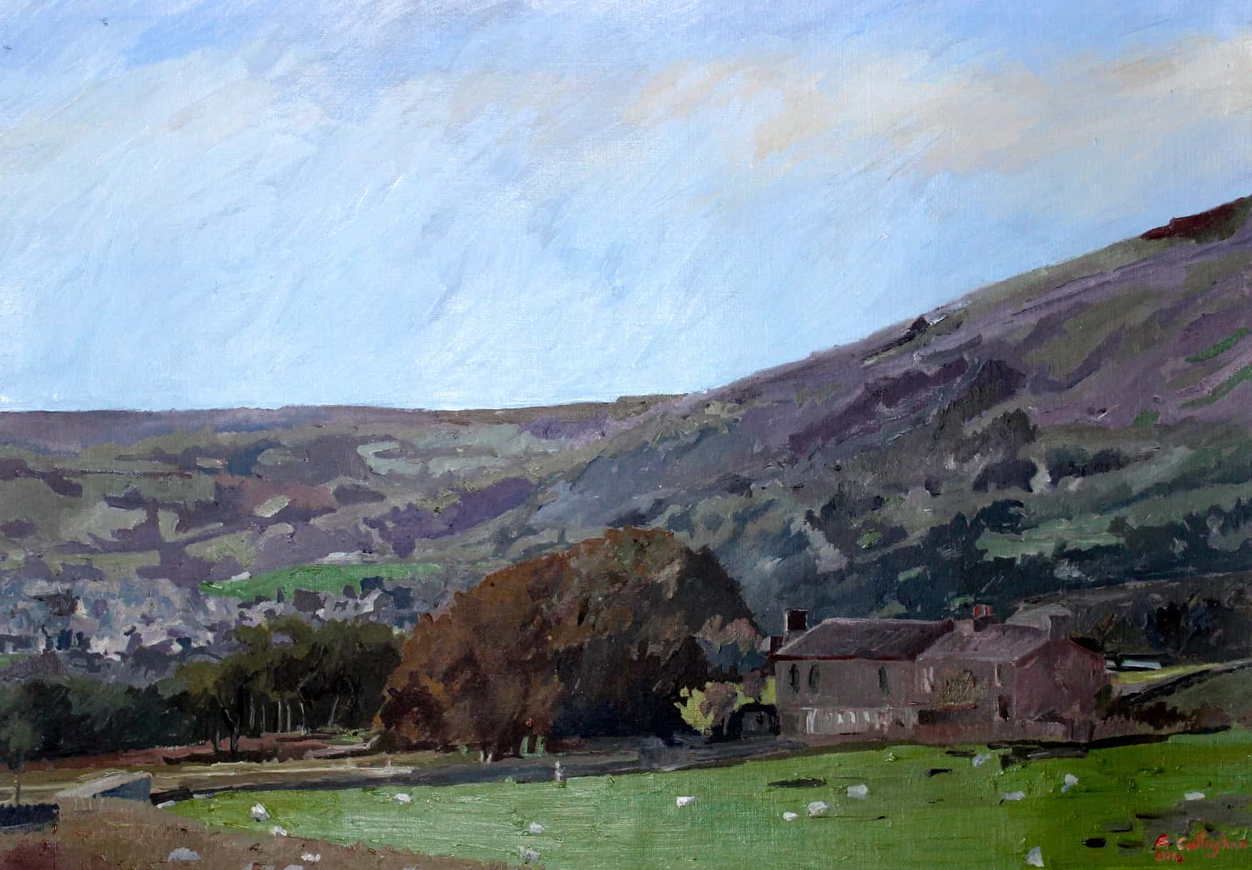 Yorkshire Dales Near Askrigg Painted by Frank Callaghan